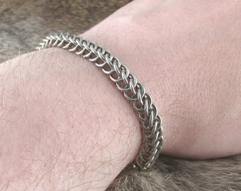 Chainmaille Stainless Steel Half Persian 3 in 1 Bracelet