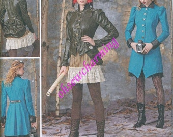 Simplicity 1299 Steampunk Goth Costume Sewing Pattern Sizes 14-16-18-20-22 Arkivestry Jackets Coats Bustle