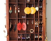 Natural Wood Jewelry Organizer