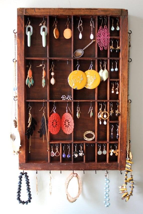 Natural Wood Jewelry Organizer
