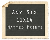 Any Six 11X14 Matted Signed Print Set