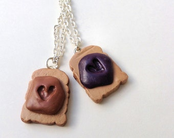Like Peanut Butter and Jelly BFF Necklaces
