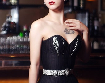 Ecosse Noir new look style corset and skirt