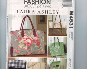 Craft Sewing Pattern McCalls M4531 Laura Ashley Business Bags Accessories Briefcase Cargo Bag UNCUT