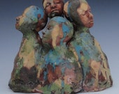 Ceramic Art Sculpture Four AS One
