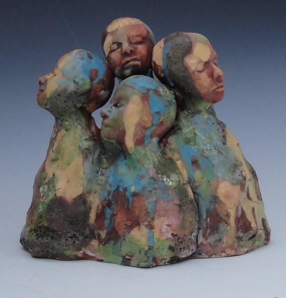 Ceramic Art Sculpture Four AS One