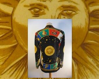 Zodiac Jacket / 90s Astrology Blazer / Vintage 1990s Sun Signs Jacket