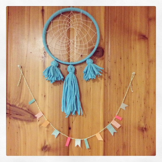 Blue Jersey Dreamcatcher