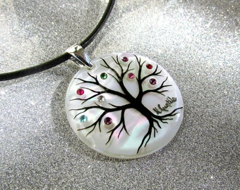 "Family Tree Necklace ""Round Classic"" (12 stone maximum)"