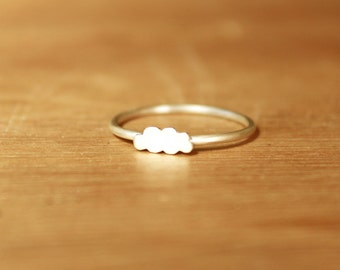 Tiny Stratus Cloud Ring -Sterling Silver