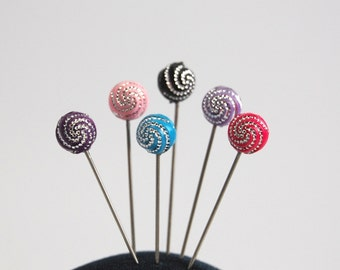 Glizz Ball Sewing Pins - Set of 6 medium long