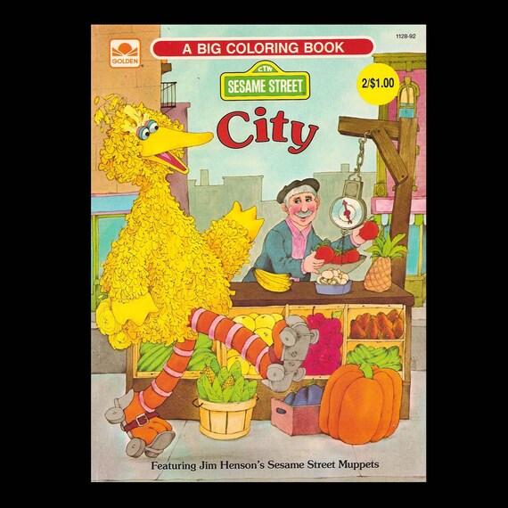 Sesame Street City Vintage Coloring Book c. 1982