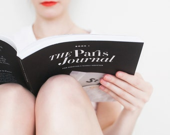 The Paris Journal by Evan and Nichole Robertson. Illustrated Travelogue, Gift for Book Lovers and Francophiles