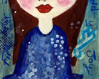 Find Your Joy - Big Eyes Art - Reproduction of Original Art Work by Jessi Designs