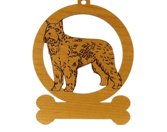 Bouvier (Standing) Ornament 081935 Personalized With Your Dog's Name