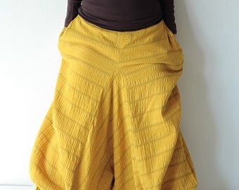 Wabi-Sabi pants...Mustard /black /dark green/ kaki /capris pant /funky pants /hippie pants  /harem pants /Linen/cotton And all colour