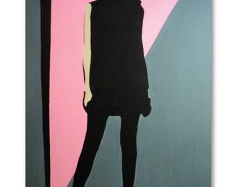Original Pop Art 80's Style Canvas Painting 'Tetra Milano'