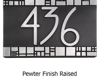 "Batchelder Tile Craftsman Address Plaque Numbers 12"" W x 8"" H by Atlas Signs and Plaques"