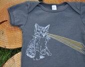 Laser Kitty  Baby Onesie (Size 6 - 12 Months)