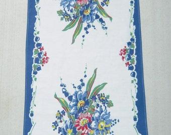 Vintage Towel Stunning Blue Bleeding Heart Bouquet