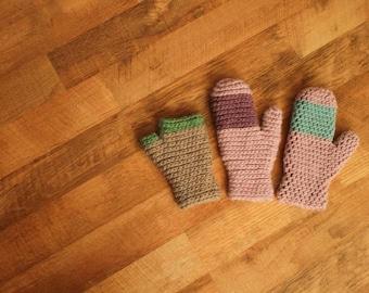 Crochet Pattern - Timber Mitts