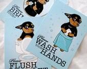 Chihuahua Bathroom Prints - 5x7 Eco-friendly Set