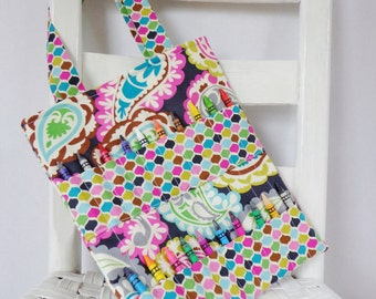 Roco Beat Paisley Crayon Bag Children Coloring Tote Paisley Busy Bag Girl Accessories Crayon Tote Childs Art Bag