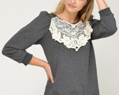 ON SALE! Victoriana Lace Sweatshirt S.M.L.