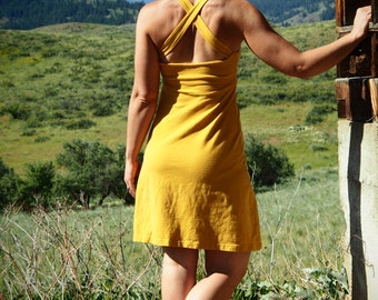 SALE - Hemp Crossback Sundress - women's organic clothing