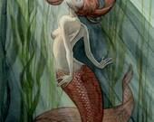 Kelp Forest Mermaid - 8x10 print
