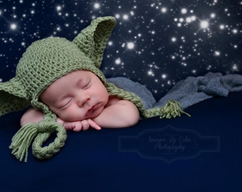Yoda Hat Star Wars Baby Newborn 0 3m 6m Crochet Photo Prop Baby Clothes Boys Girls Gender Neutral POPULAR Worldwide Fathers Day Gift
