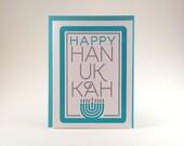 Letterpress Hanukkah Card