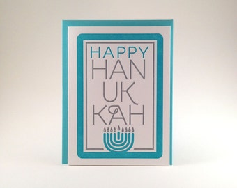 Letterpress Hanukkah Card