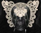 Kitty Cat Ears Lace Bridal Headpiece