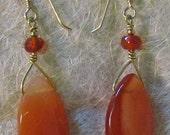 Carnelian Sunset Earrings