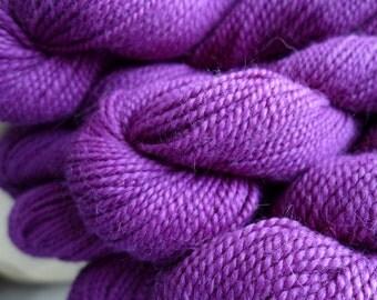 Blue Sky Alpacas Sport Weight - 547, Hydrangea - Purple Violet Fuchsia Pure Baby Alpaca Yarn
