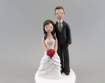 Custom Bride & Tall Groom Wedding Cake Topper