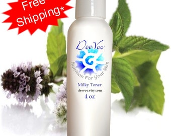 Milky Toner - Red Marks, Reduce Enlarged Pore Size , pH Balanced, Vegan with Natural and Organic Ingredients - International Shipping
