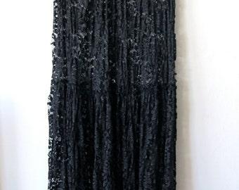 Lovely Black High Waisted Lace Skirt