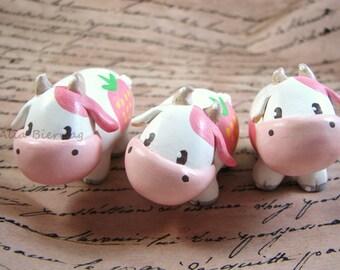 Harvest Moon Strawberry Cow Figurine