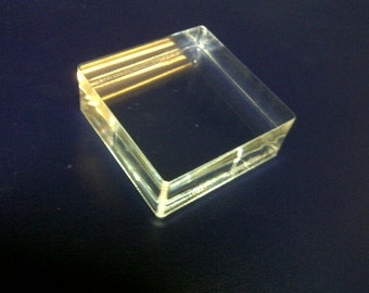 Clear Mounting Block - Includes shipping