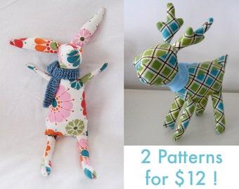 Rabbit & Reindeer 2 PDF PATTERNS SALE!