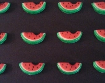 Edible Fondant Watermelon-Cake/Cupcake Toppers-Set of 12