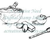 INSTANT DOWNLOAD Digital Stamp Image TIMe To BAKE