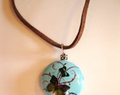 Butterfly Garden Turquoise Necklace
