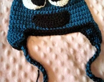 """Adult's """"Cookie Monster"""" inspired hat"""