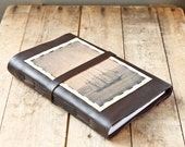 Tall Ship Leather Journal - Large Rustic Travel Journal