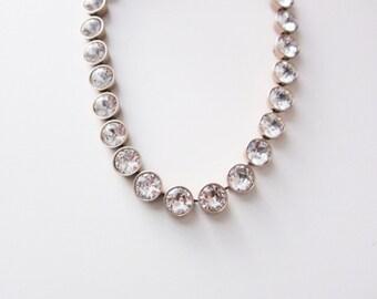 Petite Crystal Brulee Necklace