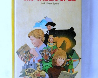 The Wizard of Oz, 1979 vintage book, Dorothy, Emerald City, illustrated book
