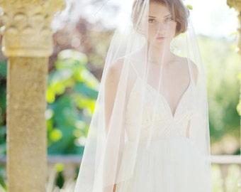 Circle drop veil, tulle veil, bridal veil, wedding veil, ivory bridal veil - FREE SHIPPING*